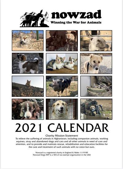 Have you checked out our online store yet?   It's full of great gift ideas, including the official 2021 Nowzad calendar.  Shop safely at Nowzad today and help the animals of Afghanistan at the same time: