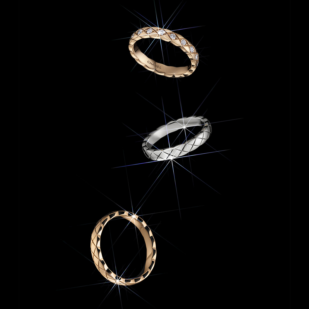 A CHANEL Dream Never Fades This holiday season, explore mini COCO CRUSH rings, available in BEIGE GOLD, yellow gold or white gold. With or without diamonds.  #CHANELDreaming #CHANELFineJewelry #COCOCRUSH Discover more on