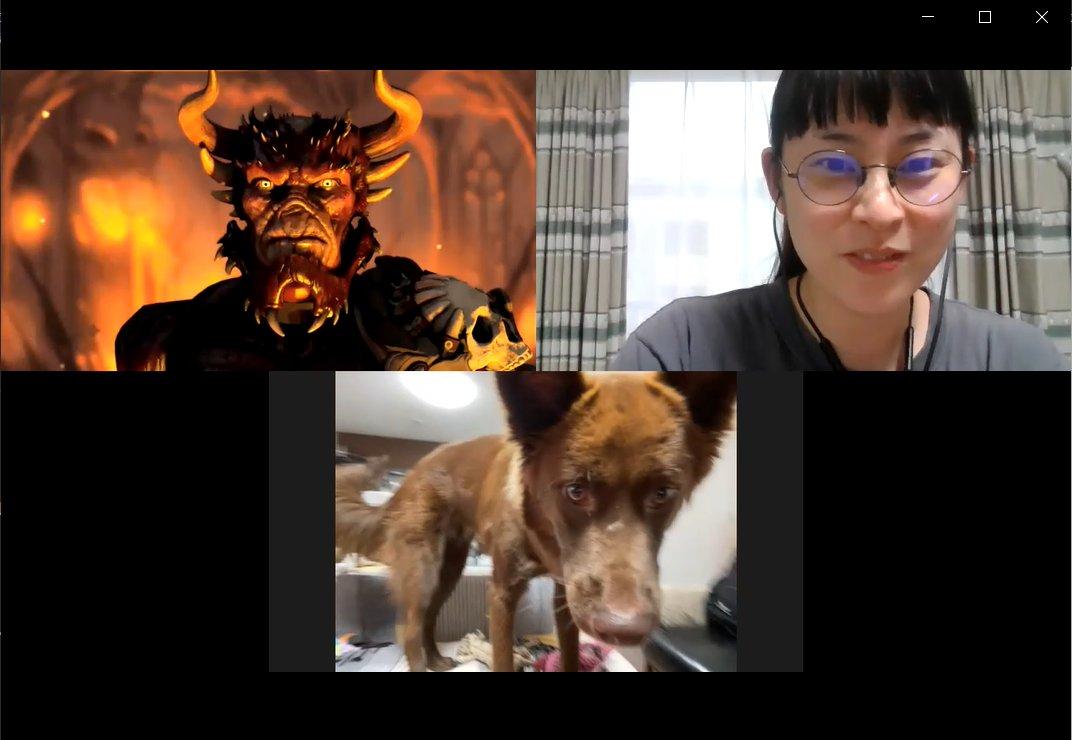 明日11/20(金)はKAIGO LEADERSのオンライン活動説明会!初めて皆さんの前でお話するのでリハを行いました。鬼と犬なのでどちらも言葉は伝わりませんが、気持ちはしっかり伝わったようです。申込は明日の17時まで!無料なのでぜひお気軽にご参加ください☺️
