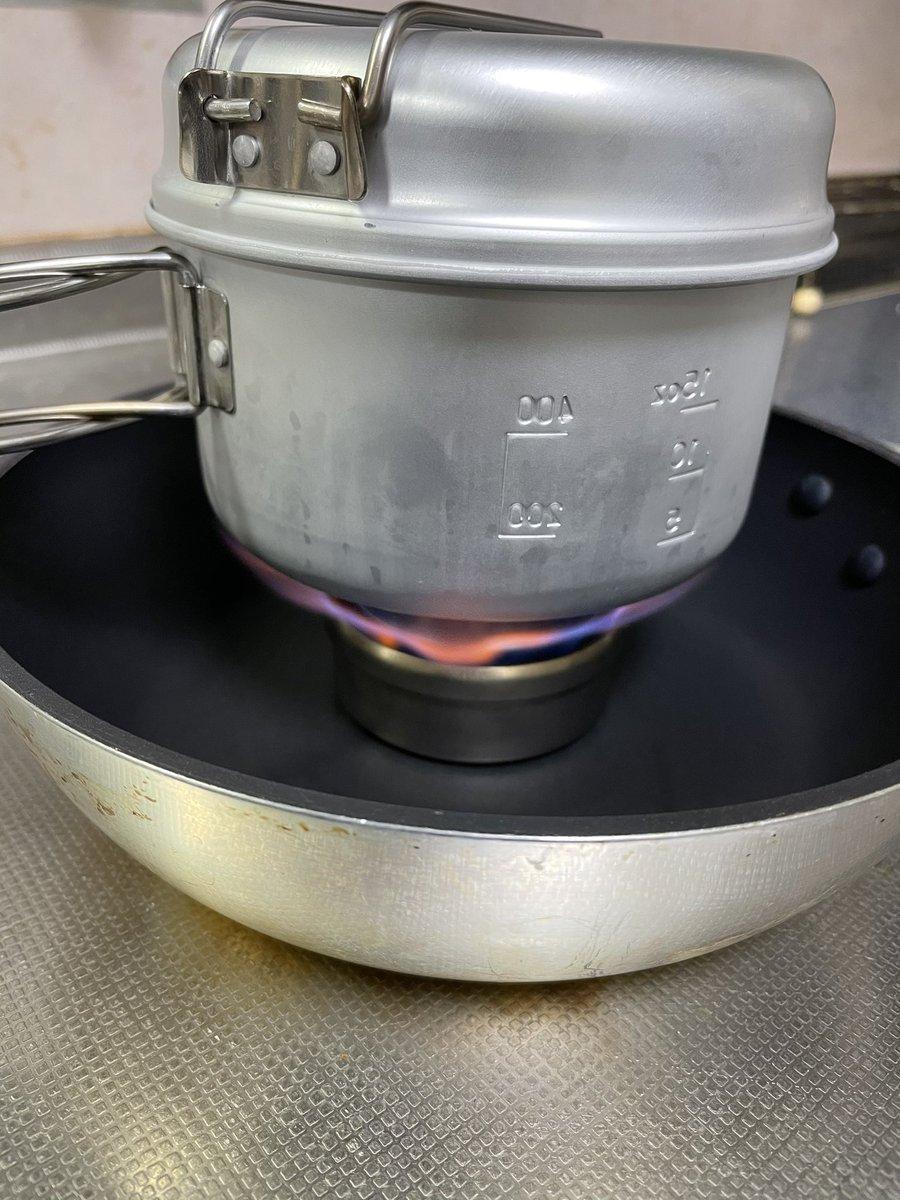 炊飯 アルコール ストーブ