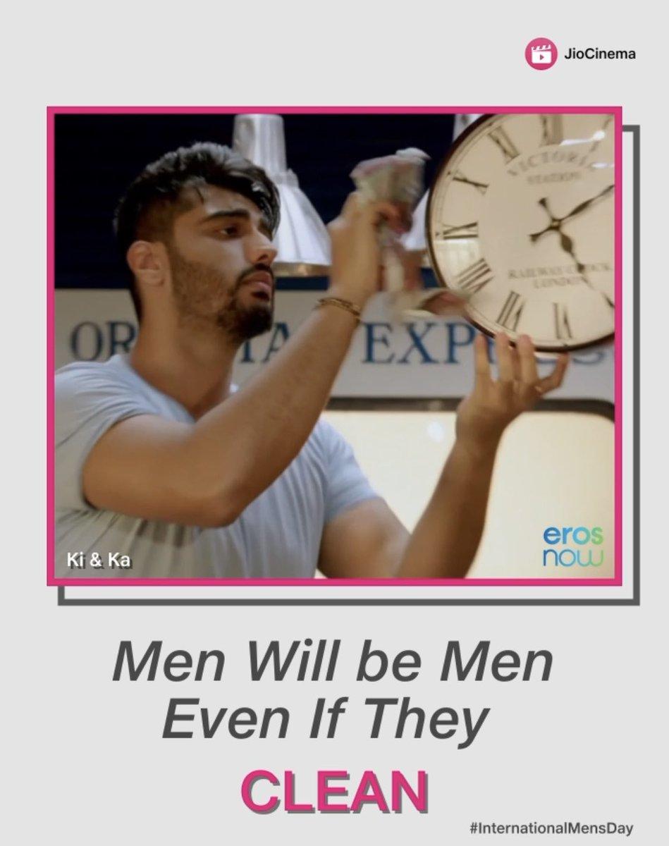 It takes all kinds of emotions to make them 'Men' #BreakingStereotypes Happy International Men's Day😄  #happyinternationalmensday #internationalmensday #jiocinema #ArjunKapoor @arjunk26