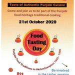 Image for the Tweet beginning: Punjabi Food Traditions 1945-1999 Taster