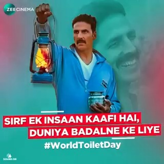 This #WorldToiletDay, let's salute the resolve of every Indian who has worked towards making our nation open-defecation free.  @akshaykumar #ZeeCinema #SeeneMeinCinema