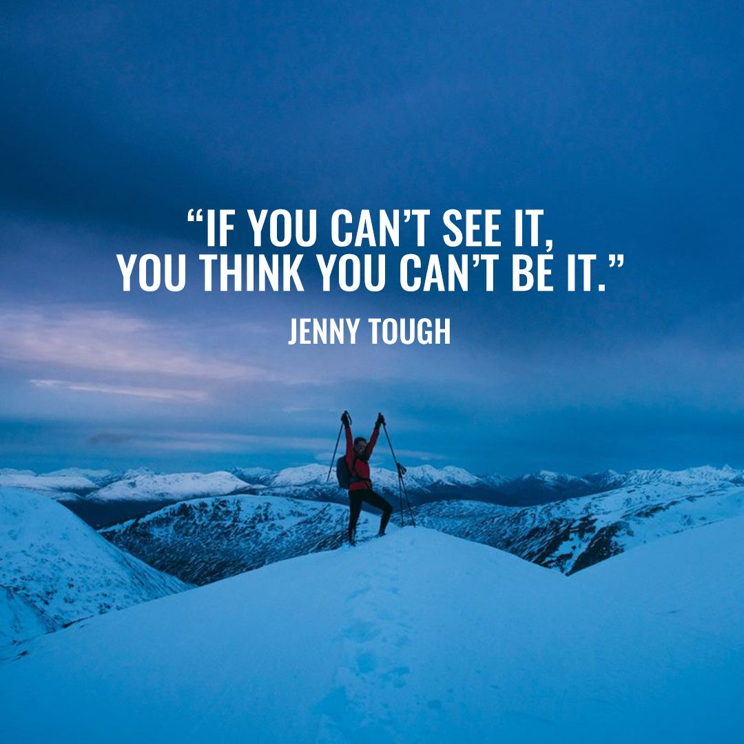 """""""If you can't see it, you think you can't be it.""""  Introducing The Mountain Runner, aka @JennyTough. Jenny's desire to push her limits has led her to numerous corners of the world. Head to the link below to see how Jenny tackles these incredible feats 🗻"""
