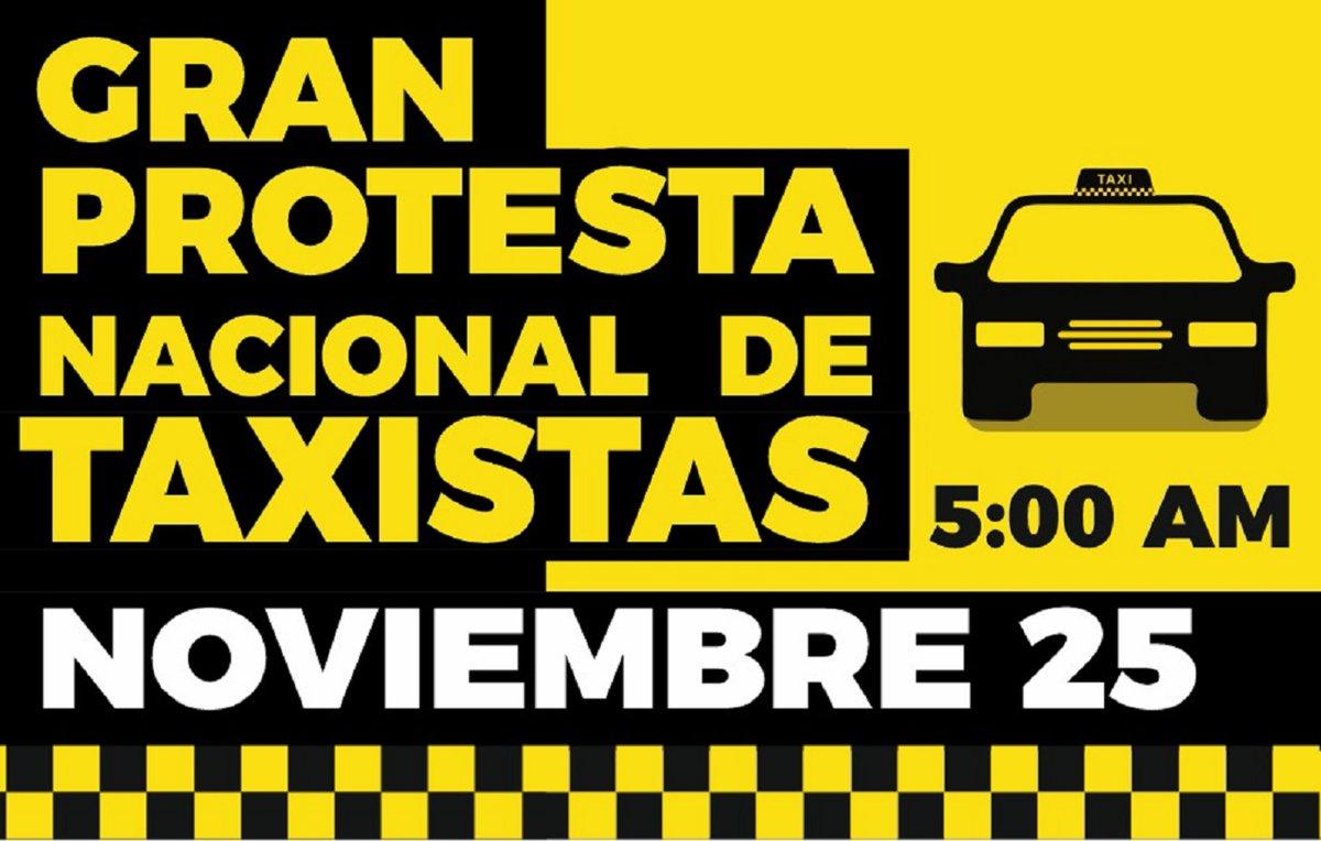 25 de noviembre paro nacional de taxistas. Gremio de taxistas del Área Metropolitana de Bucaramanga, expresó que se unirán al paro nacional del transporte público. https://t.co/0DBaX4JsqW https://t.co/AMaHD7PD67