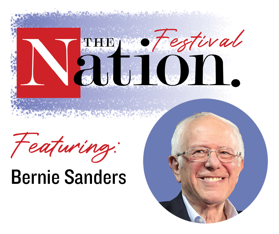 Today @BernieSanders joins The Nation Festival at 6pm EST! Sign up for a day pass at $69 to see him live, as well as @rbreich, @aijenpoo and @GeorgeGoehl, @AliciaGarza, @RoKhanna and @ZephyrTeachout.