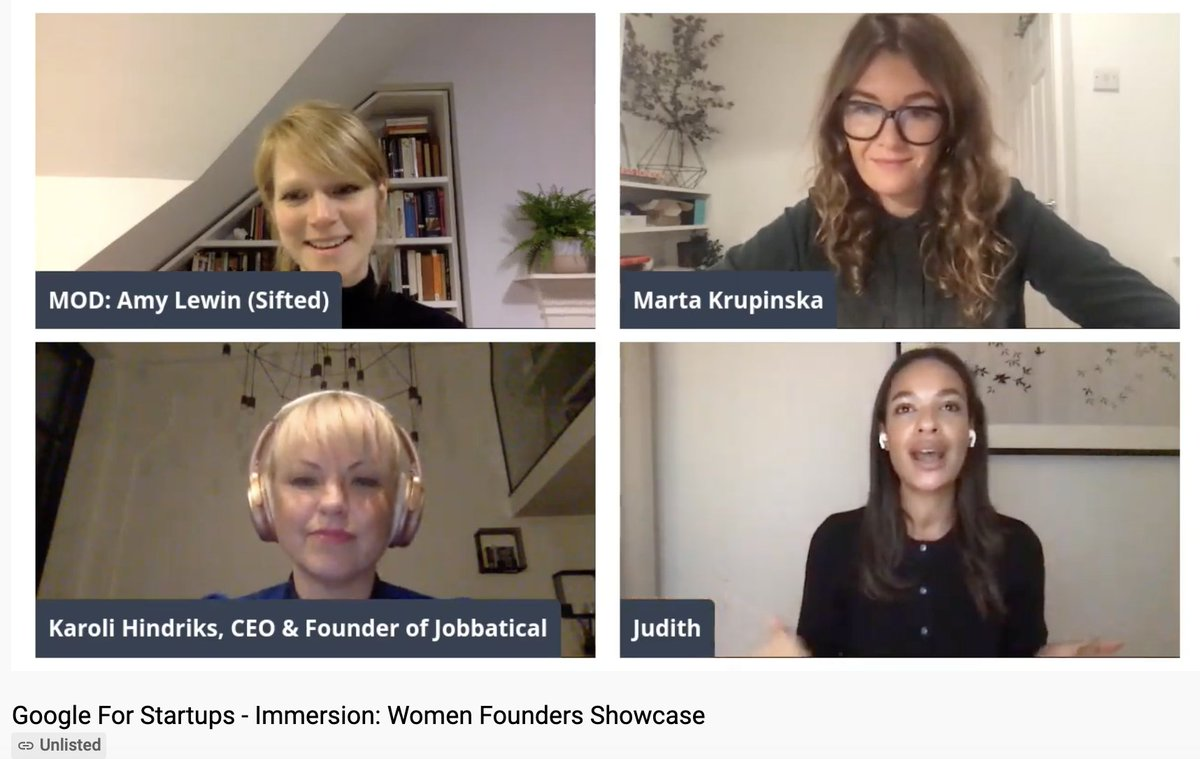 Amazing fundraising tip for #womenfounders from @karolihindriks CEO of @Jobbatical: 'Don't focus on what holds you back. Remember you're building an AMAZING THING, get into that VC meeting room and INSPIRE THEM. Show them the future they haven't seen yet' 💪 💪 💪
