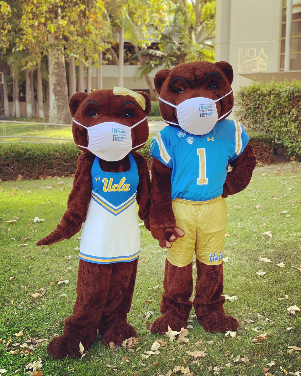 Joe and Josie know what's up — do your part to help prevent the spread of COVID-19 and mask up!  #GoBruins  #MaskUp  #BruinForBruin  @UCLA @UCLAAthletics @UCLAHealth @UCLA_Alumni @FollowJoeBruin