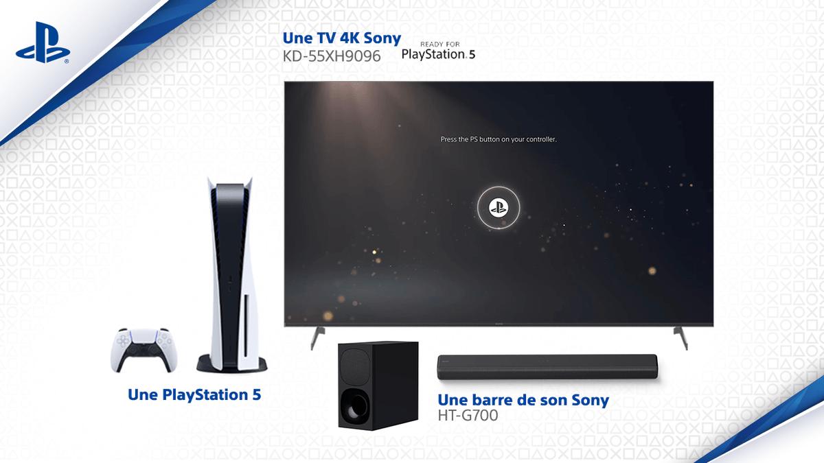 La #PS5 est disponible : tentez de gagner 1 #PS5 + 1 TV 4K @SonyFrance + 1 barre de son !  Pour participer : RT + tweetez avec #PS5 https://t.co/PeXYuRh0Ng