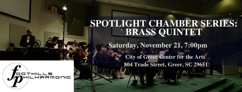 Foothills Philharmonic Brass Quintet In Concert -