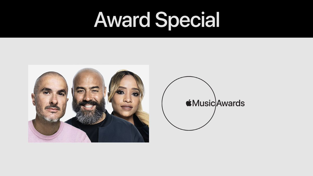 The #AppleMusicAwards2020 are here. Big congrats to our winners, @Theestallion, @Lilbaby_1 and @Roddyricch! Lock into Apple Music 1 now as I speak to them with @Zanelowe and @Neweryork, and then check out more on @AppleMusic: