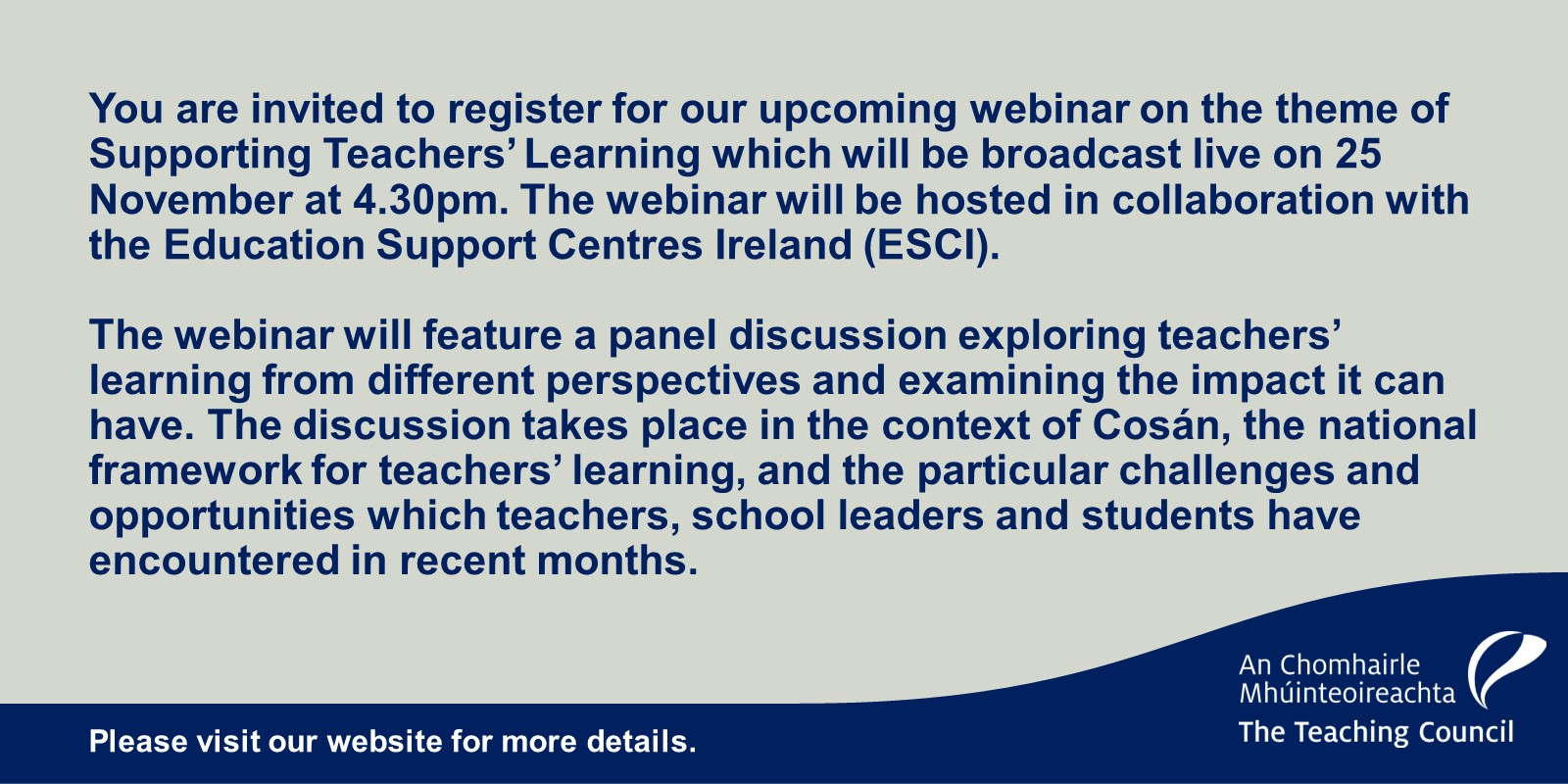 Teaching Council Webinar