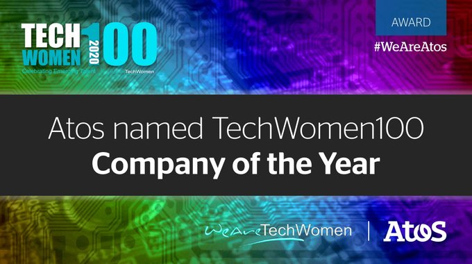 Delighted to be awarded 'Company of the Year' by @WATC_WeAreTech at the #TechWomen100 Awards...