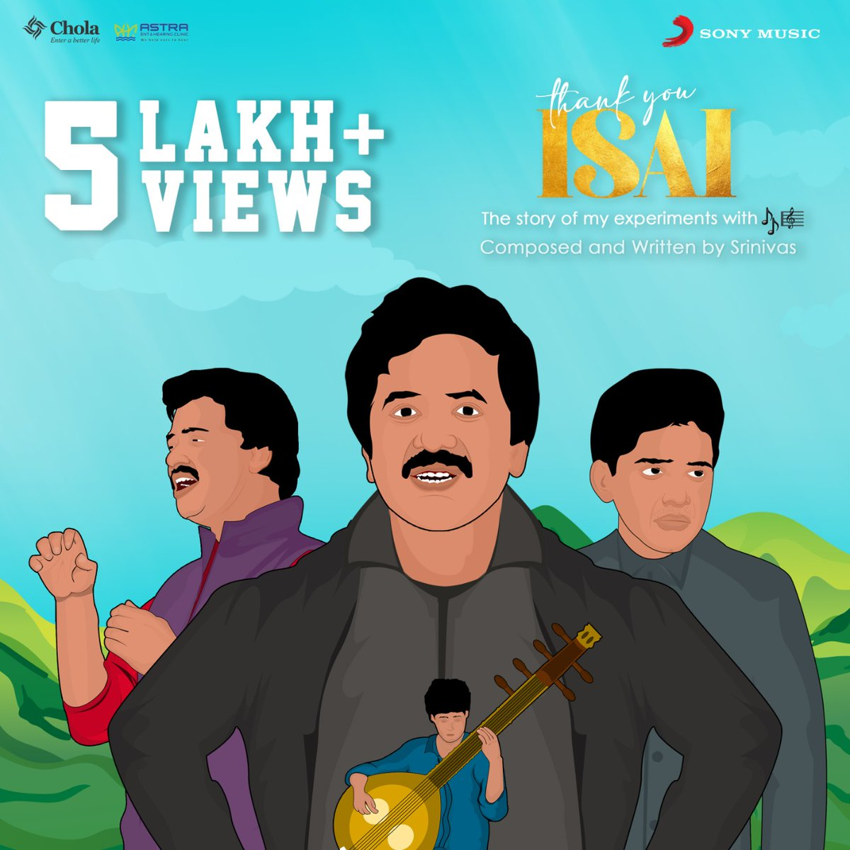 #ThankYouIsai 🎼  Have you checked out the latest from @singersrinivas ? 🎶  Click play now ➡️   @SilverTreeOffl @noiseandgrains