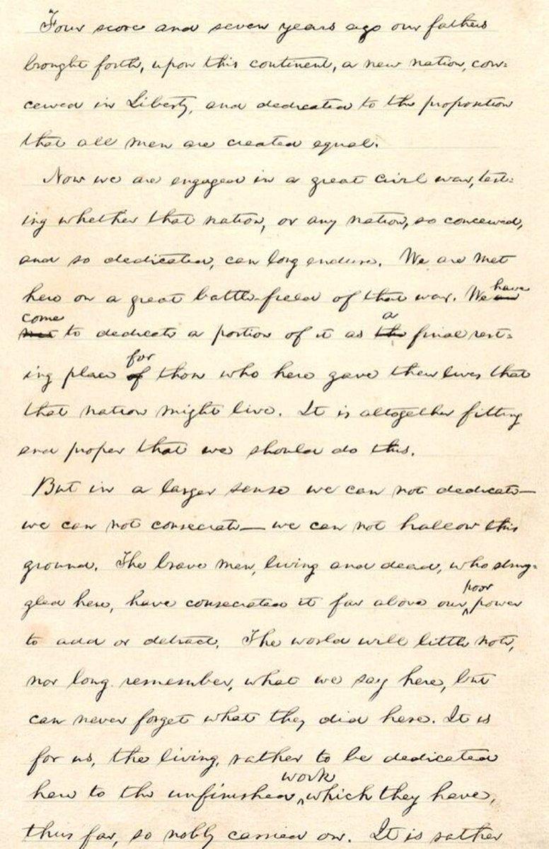 Abraham Lincoln delivered Gettysburg address today 1863: