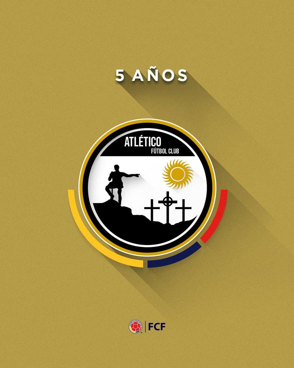 ¡Feliz cumpleaños @AtleticoFCSA !   Que sean muchos más llenos de fútbol ⚽  Felicidades por el quinto aniversario 👏