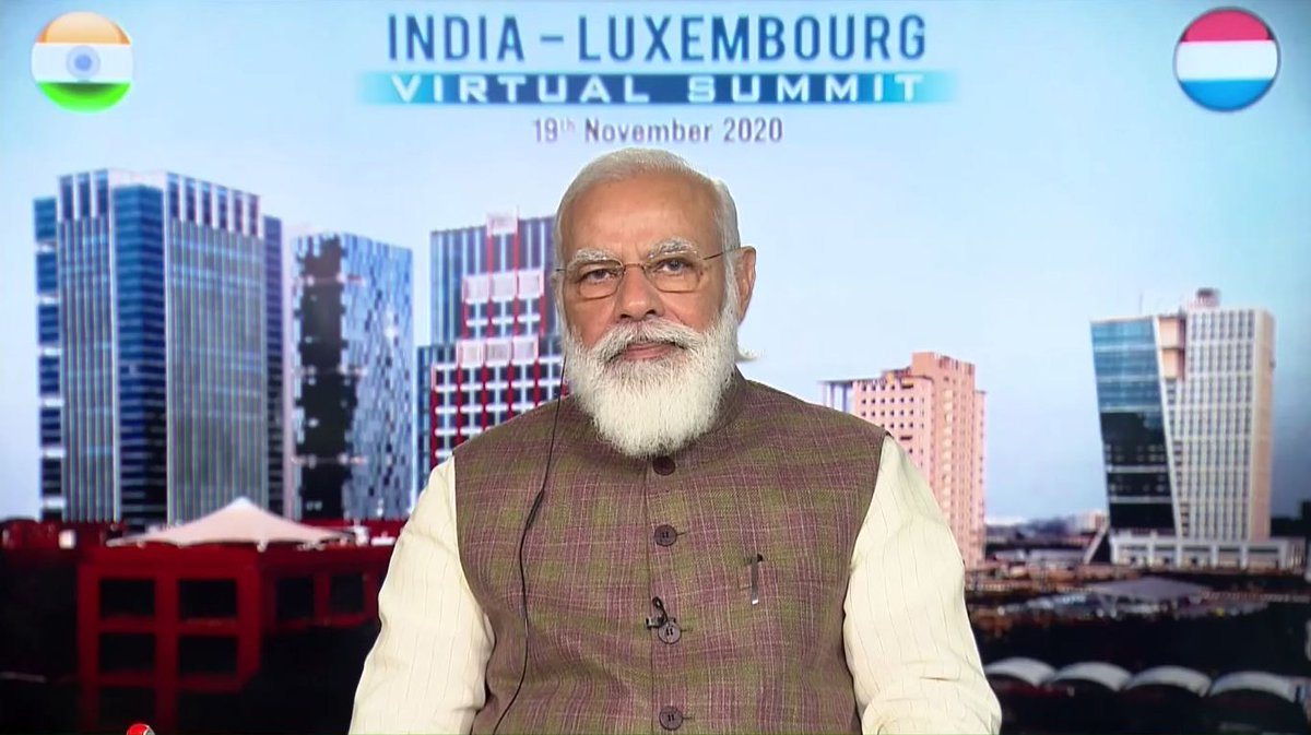 GIFT City featured as background screen by PM Modi in India – Luxembourg virtual summit