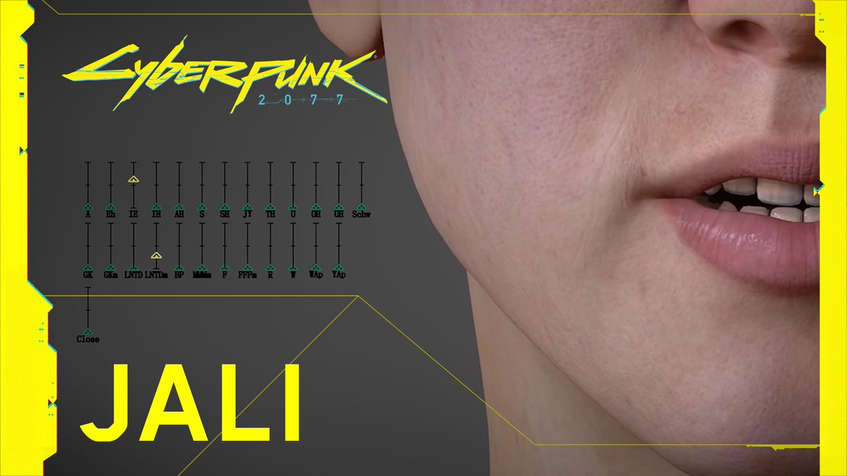 See JALI in action! This is the lipsync technology powering speech of *every* *single* *character* in #Cyberpunk2077 and making talking to them feel authentic in all 11 VO languages.