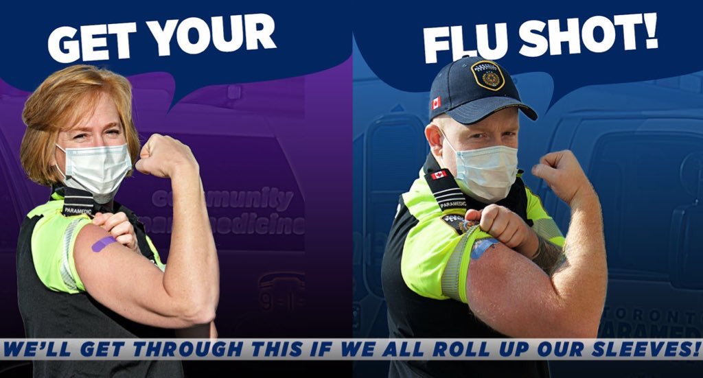 It is important for everyone who can to get their flu shot this year. The flu vaccine will not protect you against COVID-19, but it will protect you from the flu or reduce the severity of illness from the flu. Get more info on 2020-2021 flu vaccines: toronto.ca/community-peop…