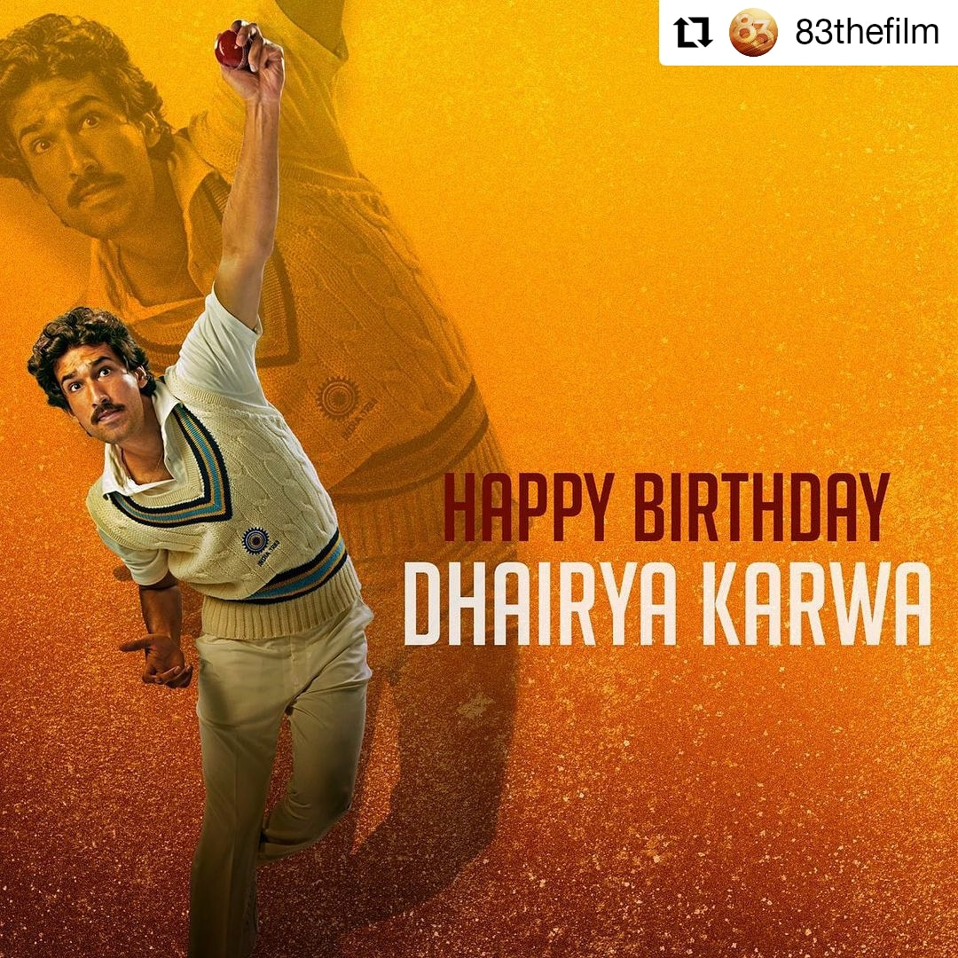#83thefilm  @83thefilm • • • • • • All set to inspire us all as the ever-resourceful,Ravi Shastri! Here's wishing #dhairyakarwa a very happy birthday. #ThisIs83 #happybirthday