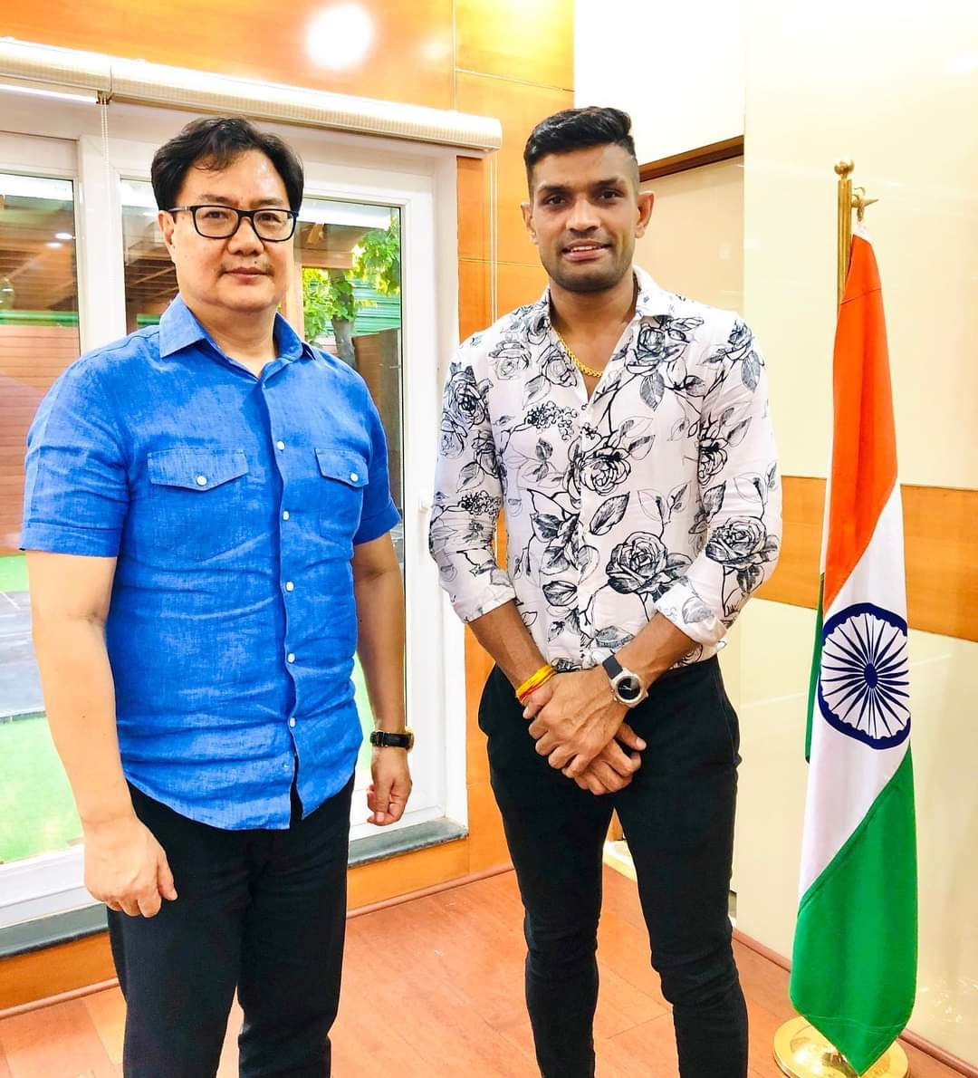 Wishing @KirenRijiju a very Happy Birthday! 🎂  Sir, you've been the torch bearer for Indian athletes and sportsmen. Your initiatives & even your twitter handle is full of inspiration for all the sports enthusiasts in the country. I wish you a great year ahead 💐🙏🎉