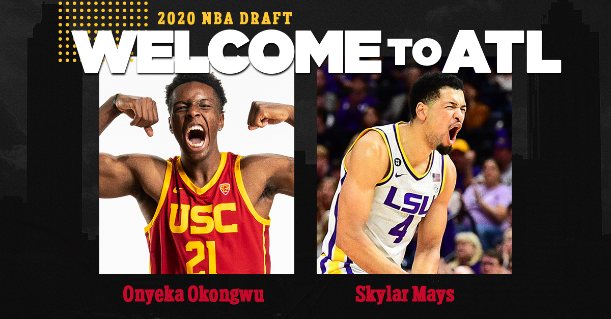 Good morning, Atlanta! Meet your new Hawks.  👋 @BigO21_ & @skylarmays4  #TrueToAtlanta