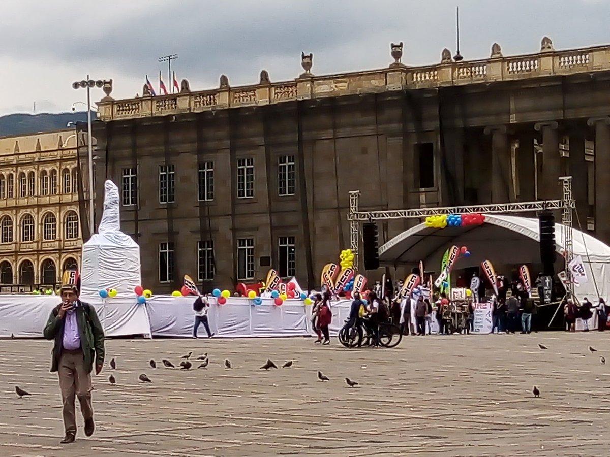 Plaza de Bolivar a las 12:25 del 19 de Noviembre de 2020  El comité del paro nacional asesinó la movilización social https://t.co/0n1u33A3nU