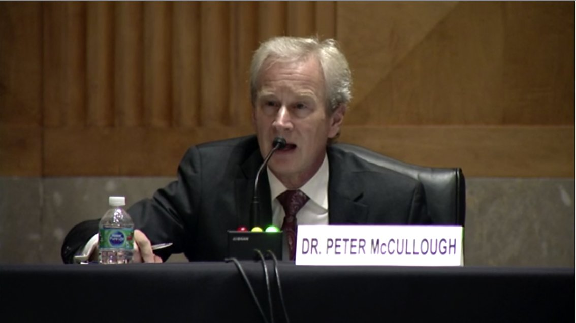 """Jean-Pierre K. on Twitter: """"Dr Peter McCullough asserts that Dr @ashishkjha  testimony is reckless and dangerous for the nation.… """""""