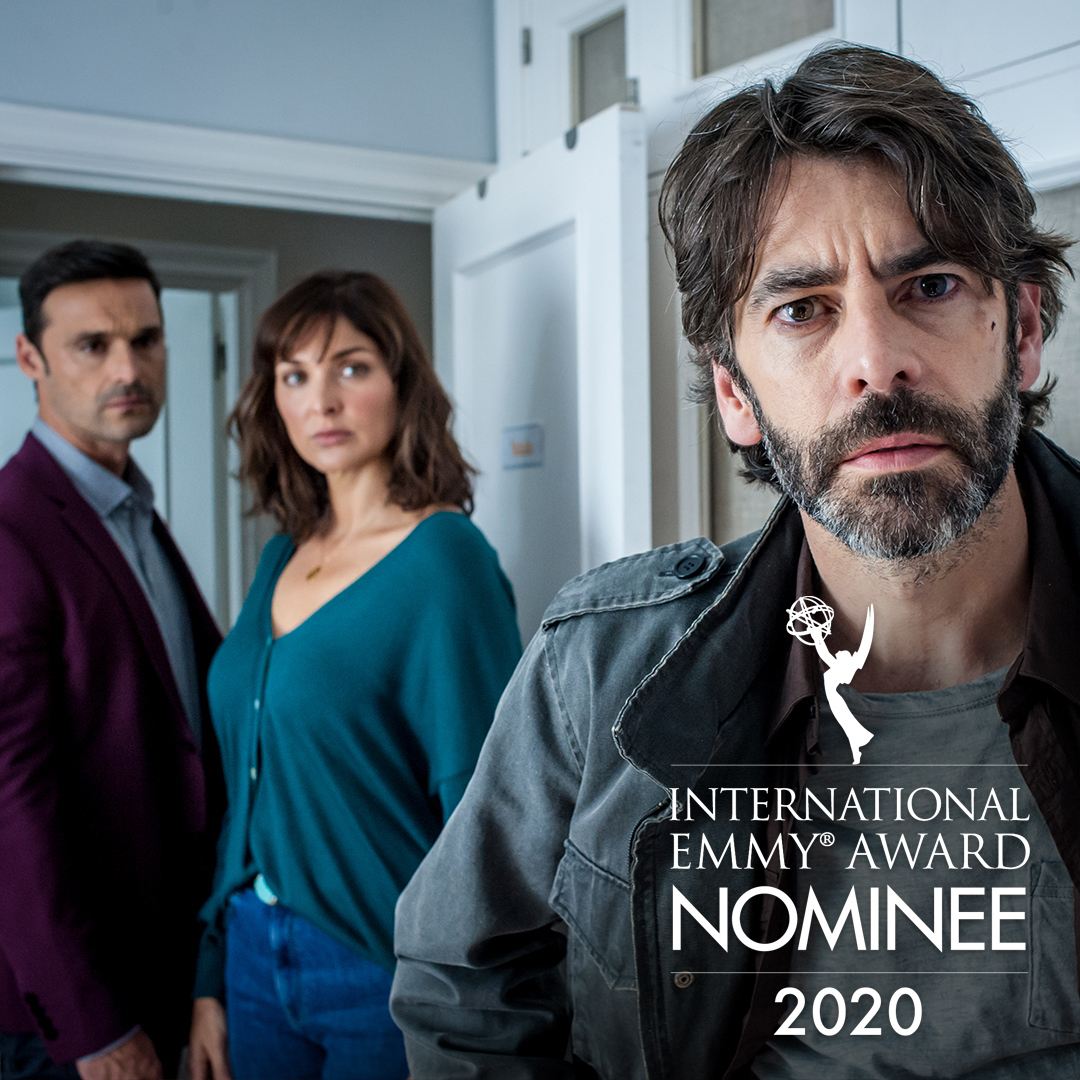 """Nominee Highlight for Non-English Language US Primetime Program: """"No te Puedes Esconder"""" produced by @Telemundo Global Studios / @netflix   Winners announced Nov 23, at the 48th International Emmy Award Ceremony streaming online at  #iemmyNOM #iemmys"""