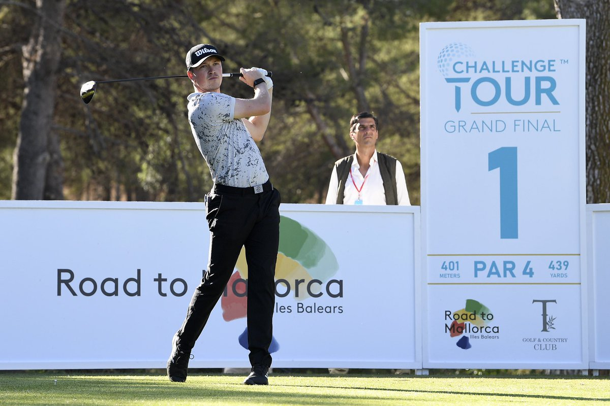 Out of isolation 🔓 and normal service resumed for @richardmansel14 opening with a 66 at the @Challenge_Tour Grand Final.