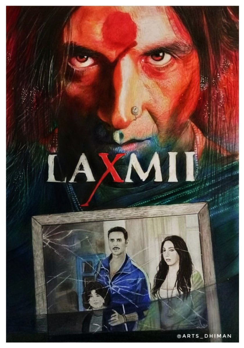 Any transgender is equal to any man or woman, which is what comes out from the film in a strong way. I believe the film is wonderful, and instead of criticism, we should appreciate @akshaykumar sir..  Sketch: @Dhiman321   @advani_kiara @TusshKapoor  #AkshayKumar #Laxmii