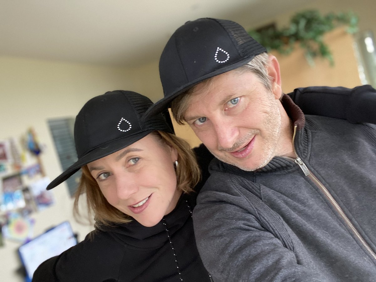 A shout out to @BeyondType1 and their ongoing support of The Human Trial. We're united in the goal to tell the world about what it means to live with T1D. We're excited to introduce our director Lisa with her husband and directing partner, Guy, rocking #thedropspotted caps.