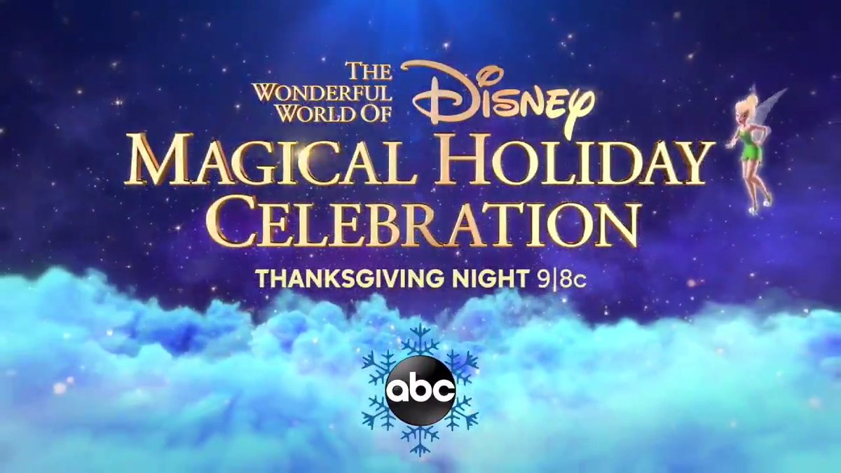 We're celebrating the holidays with past Disney Parks performances from The Wonderful World of Disney: Magical Holiday Celebration. Join us Thanksgiving night on @ABCNetwork!  #DisneyHolidayCelebration