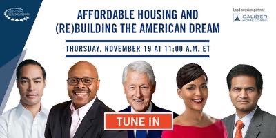 There are proven ways to make the dream of homeownership a reality for more Americans.   I hope you'll join me, Sec. @JulianCastro, Mayor @KeishaBottoms, @SanjivDasCHL, and @LISCMaurice as we discuss now.