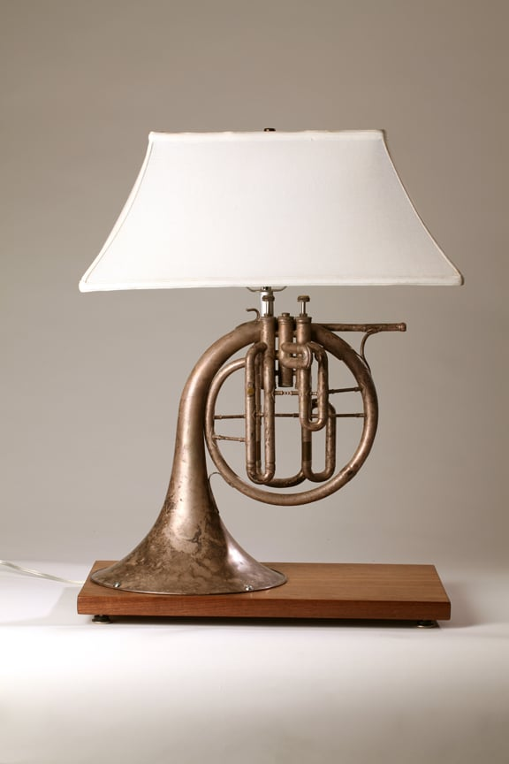 #Design Awesome of the Day: #Steampunk-ish ⚙️ Lamp💡 Made With Recycled Brass French Horn 📯 via @iDLights #SamaDesign