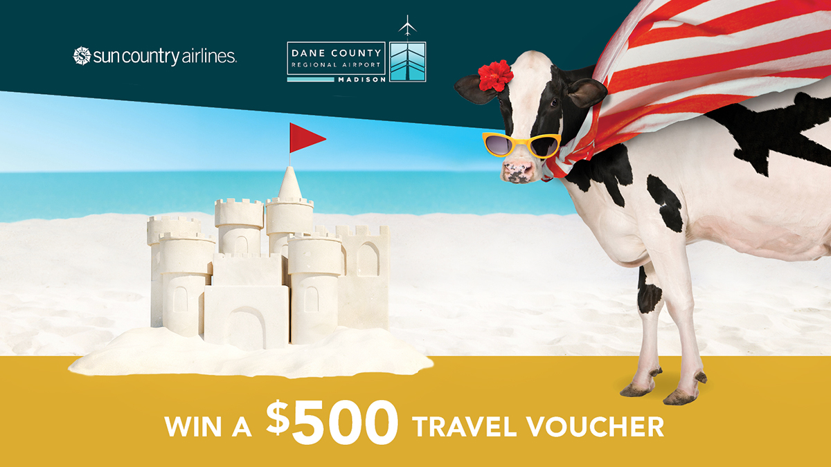 There are just 5 more days for your chance to win a $500 travel voucher from Sun Country Airlines! Jet to warm climates including destinations in Mexico and the Caribbean. Your chance to win ends Midnight on November 23 - enter to win at .  #MSNAirport