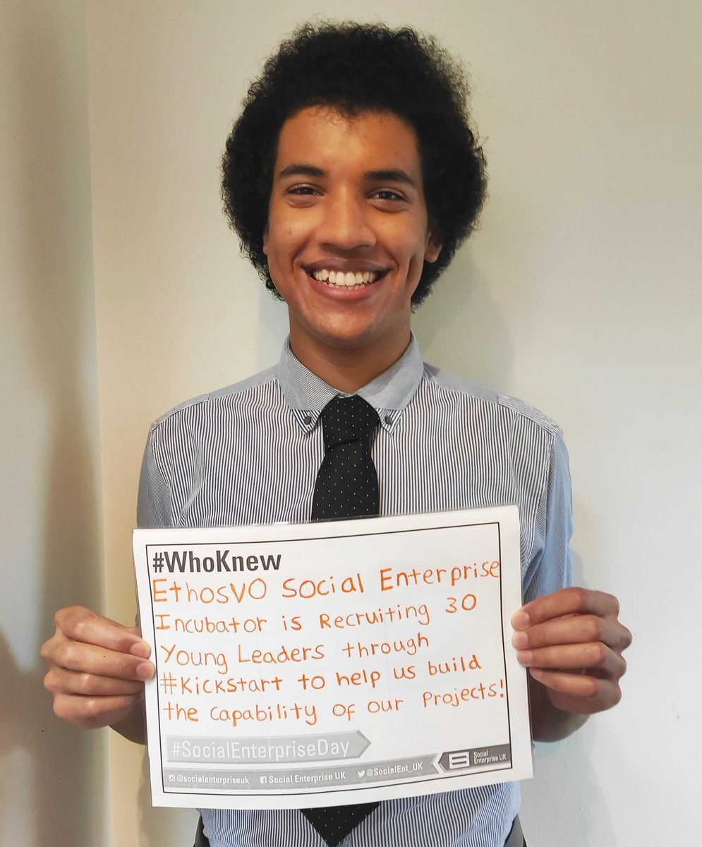 RT @EthosVO This is Joel at EthosVO:  glad to be part of the global #SocialEnterpriseDay campaign to tell the world about the impact of our projects with social value: @TeamPoliceUK @PlacemakerT @BldngPathways @TeamArmyUK #kickstartscheme