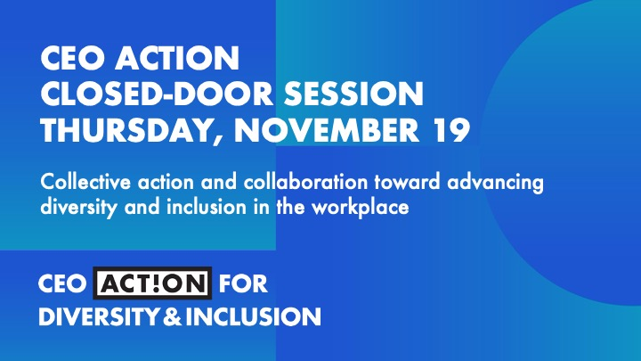 Today, our CEO Steve Fechheimer is attending the 4th annual #CEOAction Closed-Door Session. World-renowned racial equity scholars and 1,000+ business leaders are coming together to help tackle societal systemic issues of racial injustice and inequity. @CEOAction