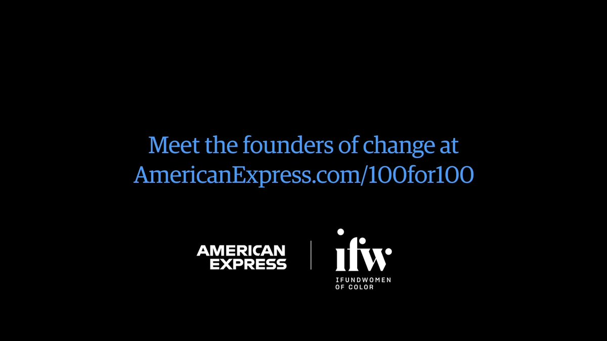 100 grants to Black women entrepreneurs. 100 days of education & resources. 100% backing of American Express. We're proud to announce the #Amex100for100 program helping these founders of change jump start & grow their businesses. Learn more:  #AmexBusiness