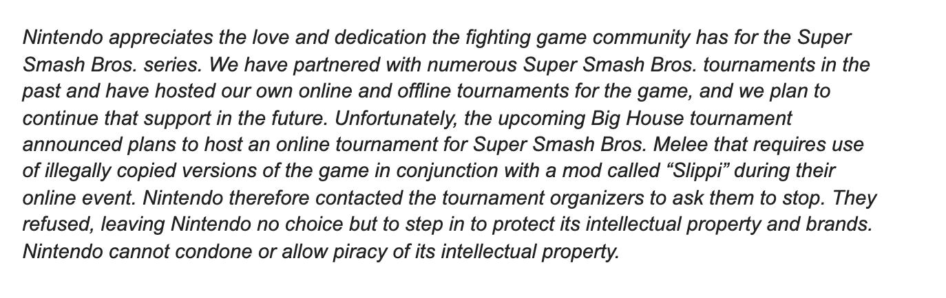 Nintendo cease and desist