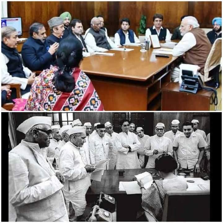 #IndiraGandhi  EVERY PICTURE TELLS A STORY....  'Sabka Sath, Sabka Vikas, Sabka Vishwas' is our mantra to serve the nation. @BJP4India @narendramodi  @JPNadda  @AmitShah  @blsanthosh  @BJP4India @ArunSinghbjp  #AatmaNirbharBharat Abhiyan.  #JoinBJP