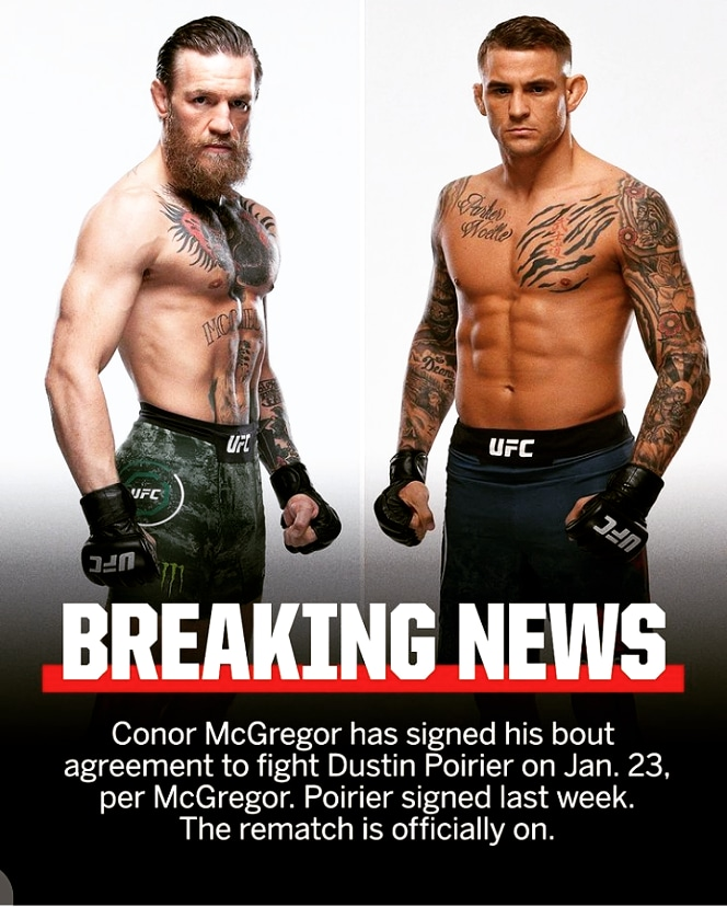 finally both are agreed for rematch. Excited 😊🤓   #UFC #UFC255 #UFCFightnight #UFCFightIsland5 #UFC256 #UFC258 #ufcfightisland6 #ufcfightisland #UFCVegas14 #ufcvegas12 #UFCVegas13 https://t.co/ZKwG4OvRwD