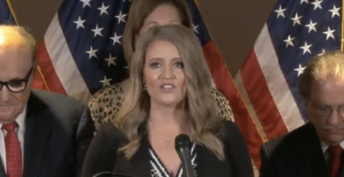 Excuse me we're not at the questions at this point. atty Jenna Ellis, nearly an hour into RNC presser