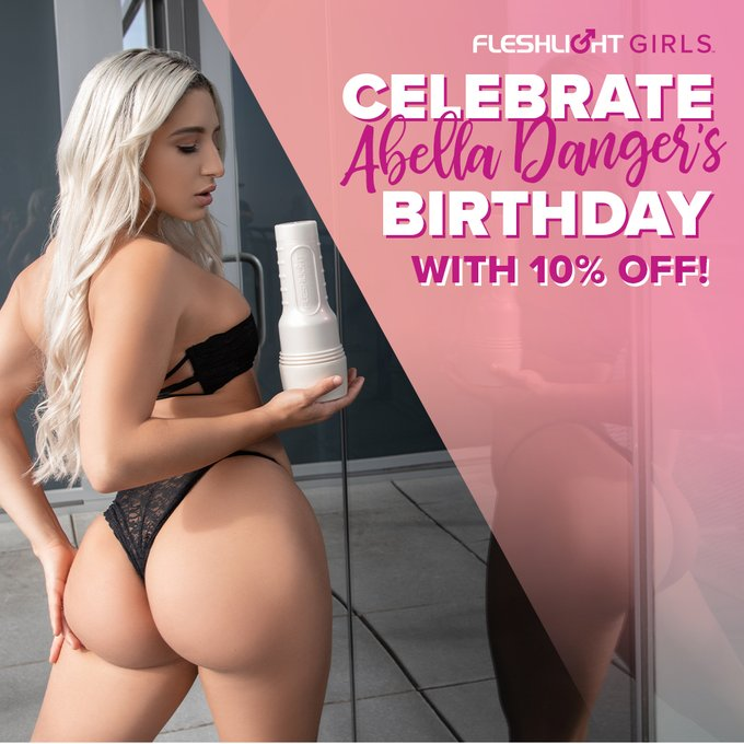 Happy birthday to our iconic Fleshlight Girl @Abella_Danger! 🎂🎉 Celebrate her birthday ALL MONTH with