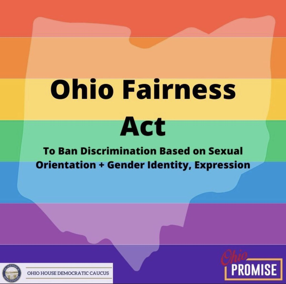 Right now, the Ohio Fairness Act is having its 3rd hearing.  As of today, it's still legal in Ohio to be fired from your job, kicked out of your home or denied services if you're #LGBTQ.   That's unacceptable. It's time to protect #LGBTQ Ohioans & pass the Ohio Fairness Act now. https://t.co/NNgLzVYCfI