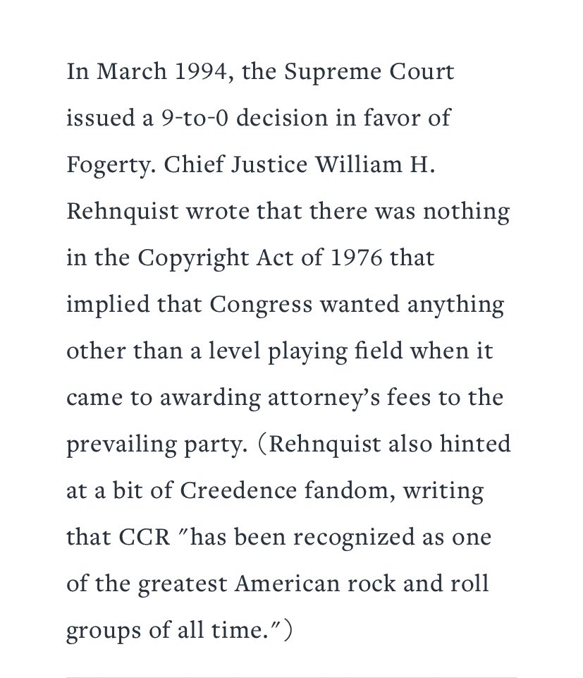 that time @John_Fogerty played guitar on the witness stand to prove he wasn't ripping off John Fogerty and it went all the way to the Supreme Court! #swamprock https://t.co/cGVAdidwqZ
