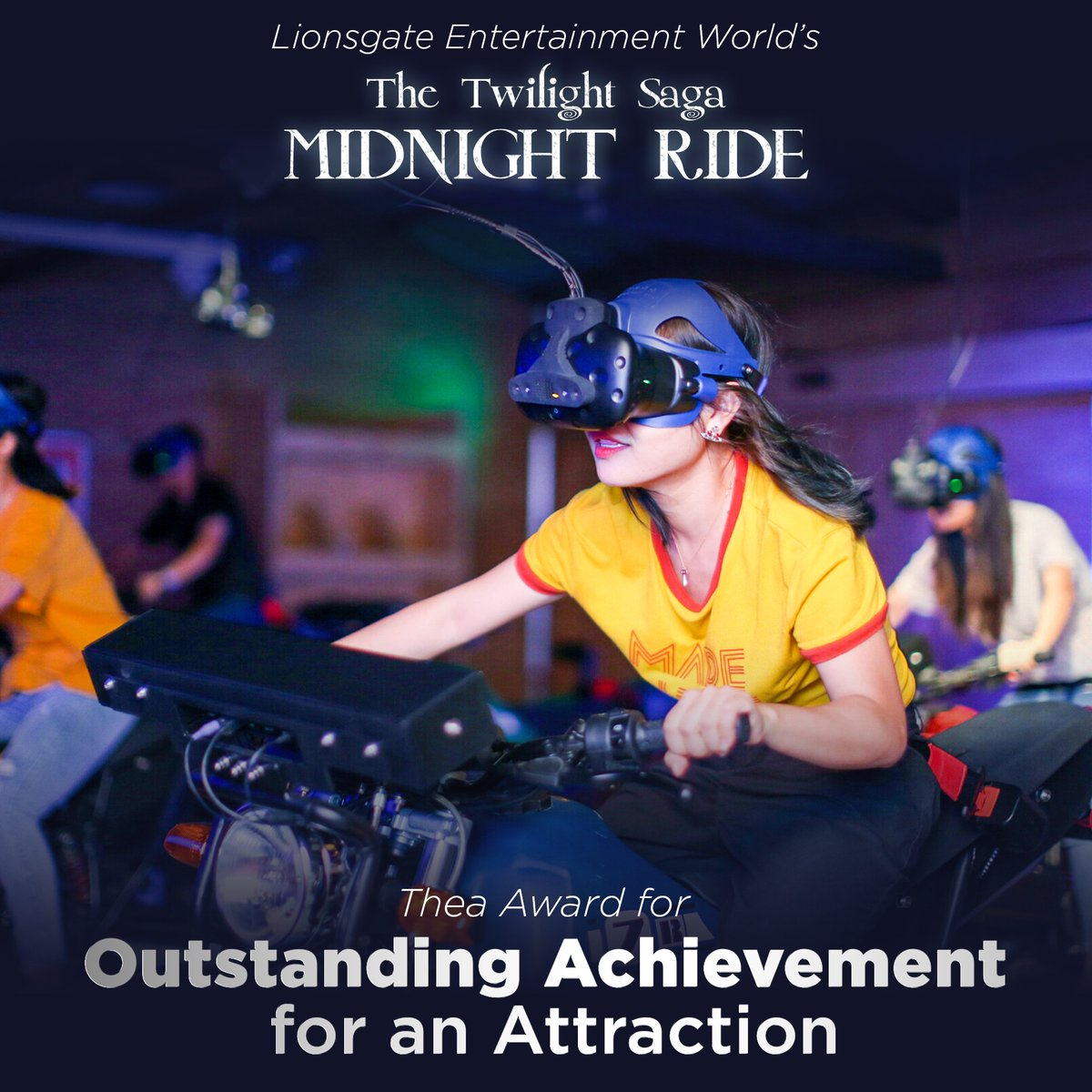 Hold on tight spider monkey! 👀 The #Twilight Saga: Midnight Ride at @Lionsgate Entertainment World just won a Thea Award!