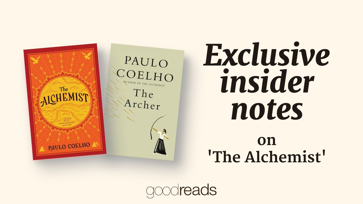 🗣 Calling all @paulocoelho fans!  In celebration of his new book, THE ARCHER 🏹, Paulo has teamed up with @goodreads to annotate his best-selling novel, THE ALCHEMIST! ❤️  👇 Check out his notes and highlights here: