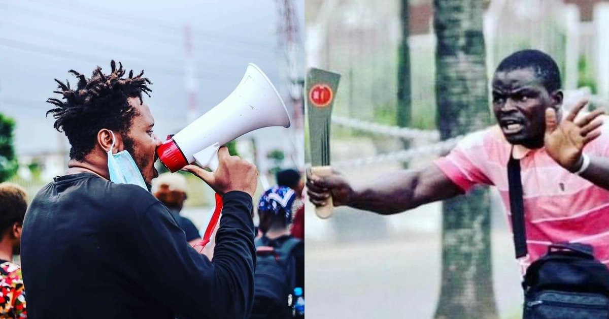 A tale of two Nigerian Youths, but guess which one has been arrested and taken to several stations as well as in and out of detention, battling bail conditions set at over a million naira... Yeah, you guessed right. #sugar #LekkiGenocide Yahaya Bello #fashola https://t.co/1Nkqw2Xg2O