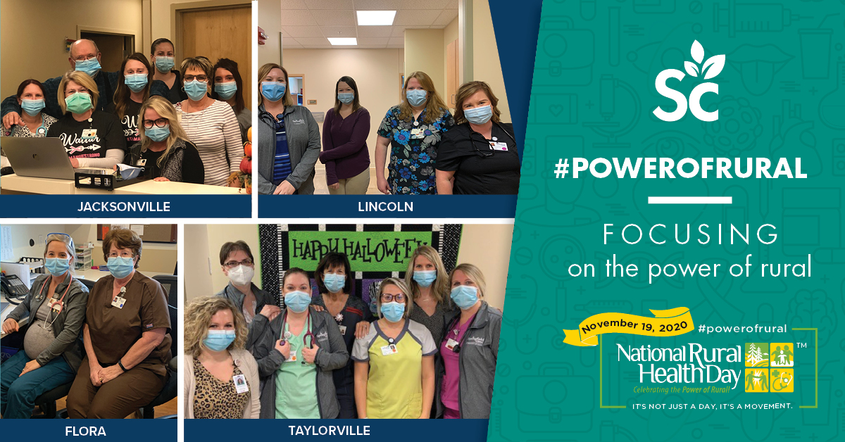 It's #RuralHealthDay! We're celebrating our employees & health care providers in our Rural Health offices who work every day to provide quality care to central Illinois and its rural communities.  #PowerofRural